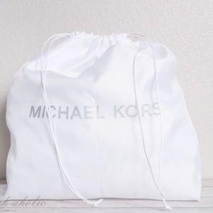 MICHAEL KORS Dust Bag Drawstring White & Silver